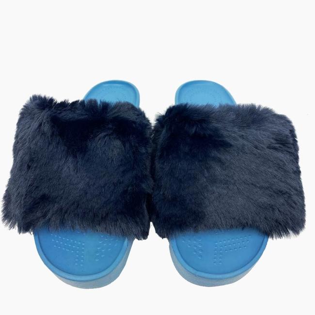 Декоративна накладка на Шльопанці O shoes кролик Синій