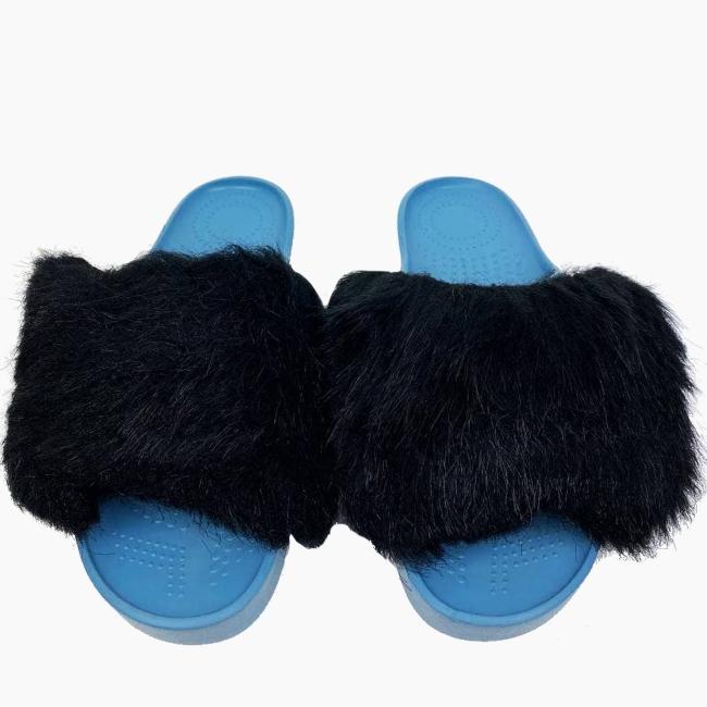 Декоративна накладка на Шльопанці O shoes лисиця Чорний