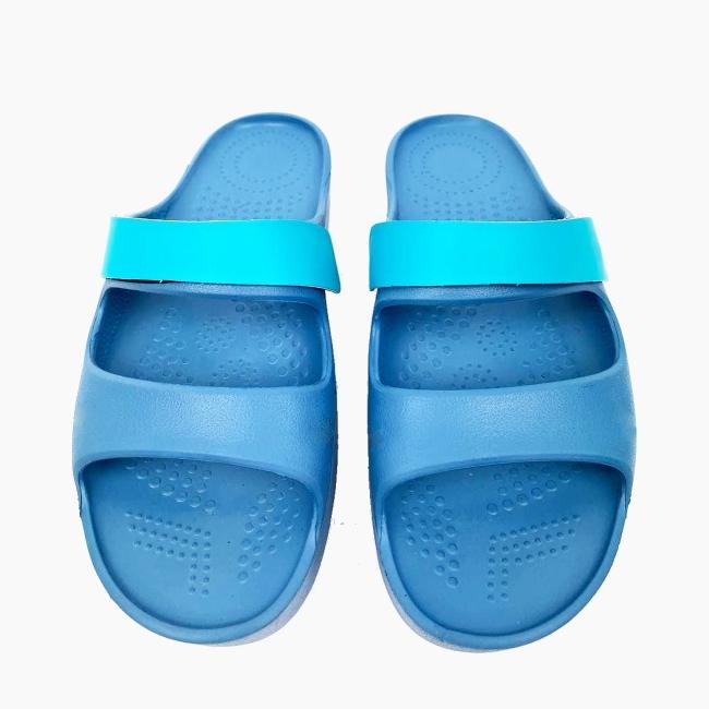 Декоративна накладка на Шльопанці O shoes базова Аква