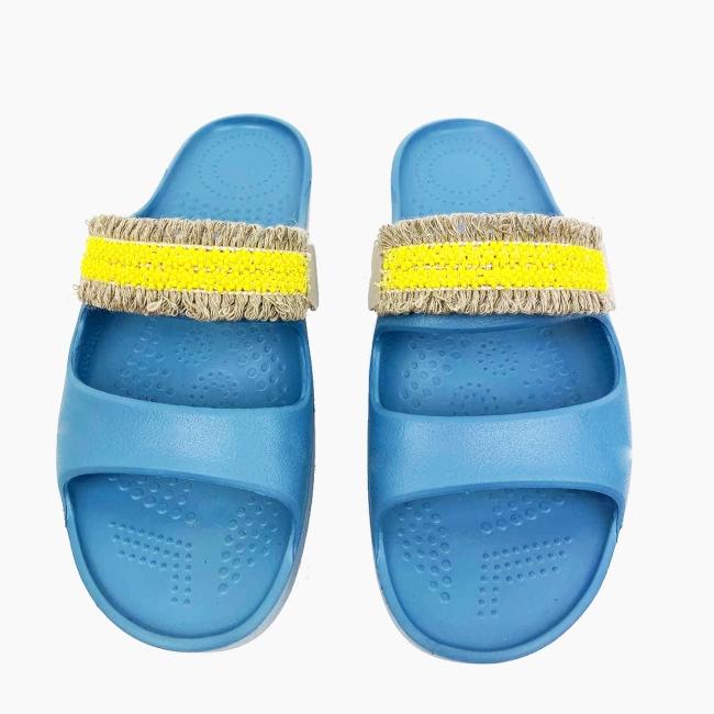 Декоративна накладка на Шльопанці O shoes натуральна Жовтий