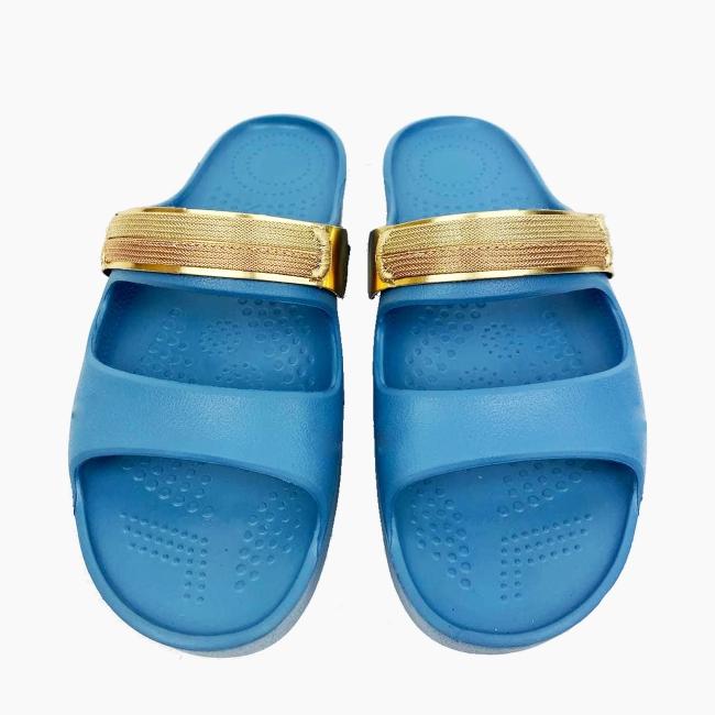 Декоративна накладка на Шльопанці O shoes металік Золото
