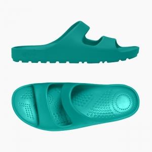 Шлепанцы O shoes на низкой платформе женские Аква