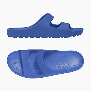 Шльопанці O shoes на низькій платформі жіночі Синій