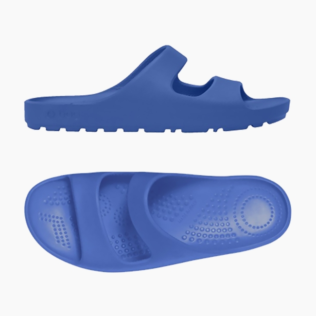 Шльопанці O shoes на низькій платформі жіночі Синій OSHSD002EVS00137