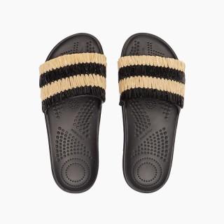 Шльопанці O slippers рафія Чорний
