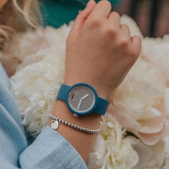 O clock | ремінець океан, циферблат Pave срібло