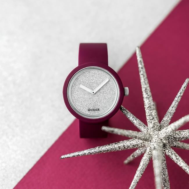 O clock   ремінець графіт, циферблат Glimmer срібло