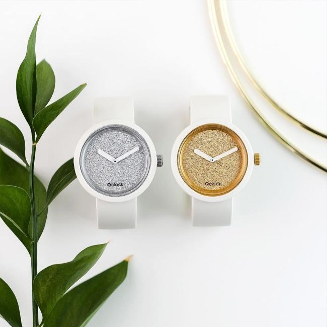 Циферблат O clock Glimmer срібло