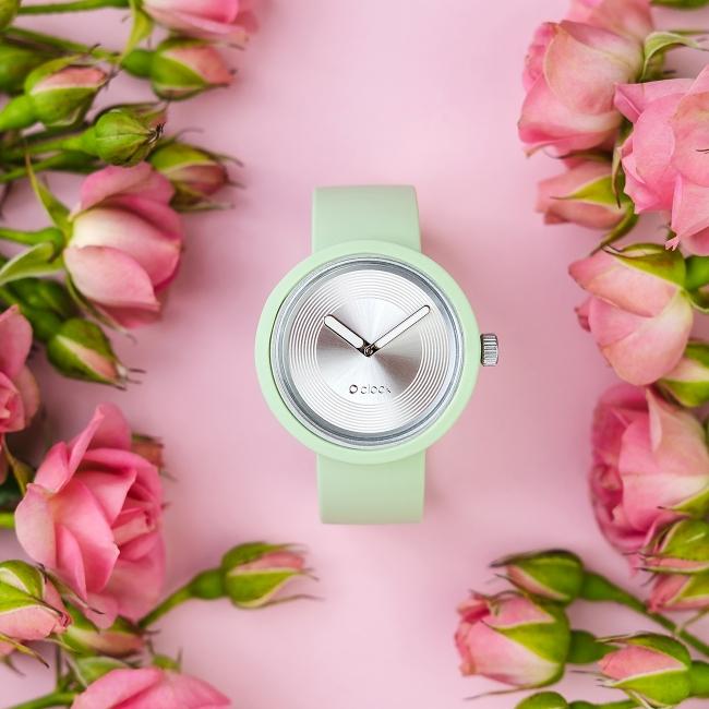 Циферблат O clock Groove Lux срібло