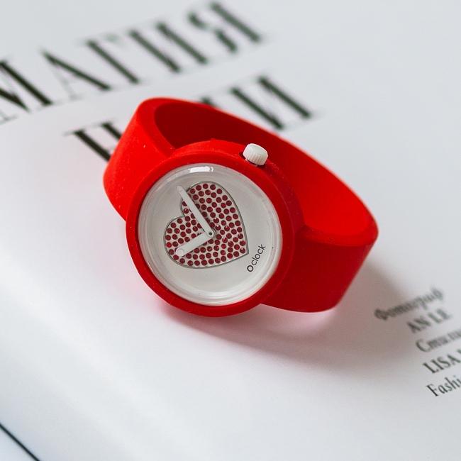 Циферблат O clock Sparkling Heart червоний