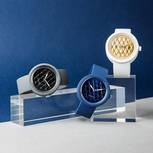 Циферблат O clock Matelasse Темно-синій
