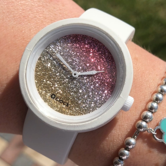 Циферблат O clock Glitter Bicolor Цедра / Корал