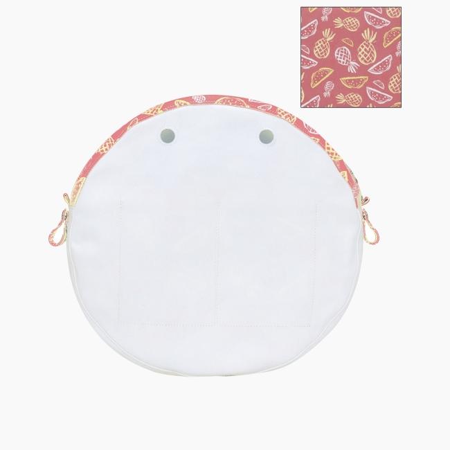"""Підкладка O bag twist mini з орнаментом """"ананаси"""" Полуниця"""